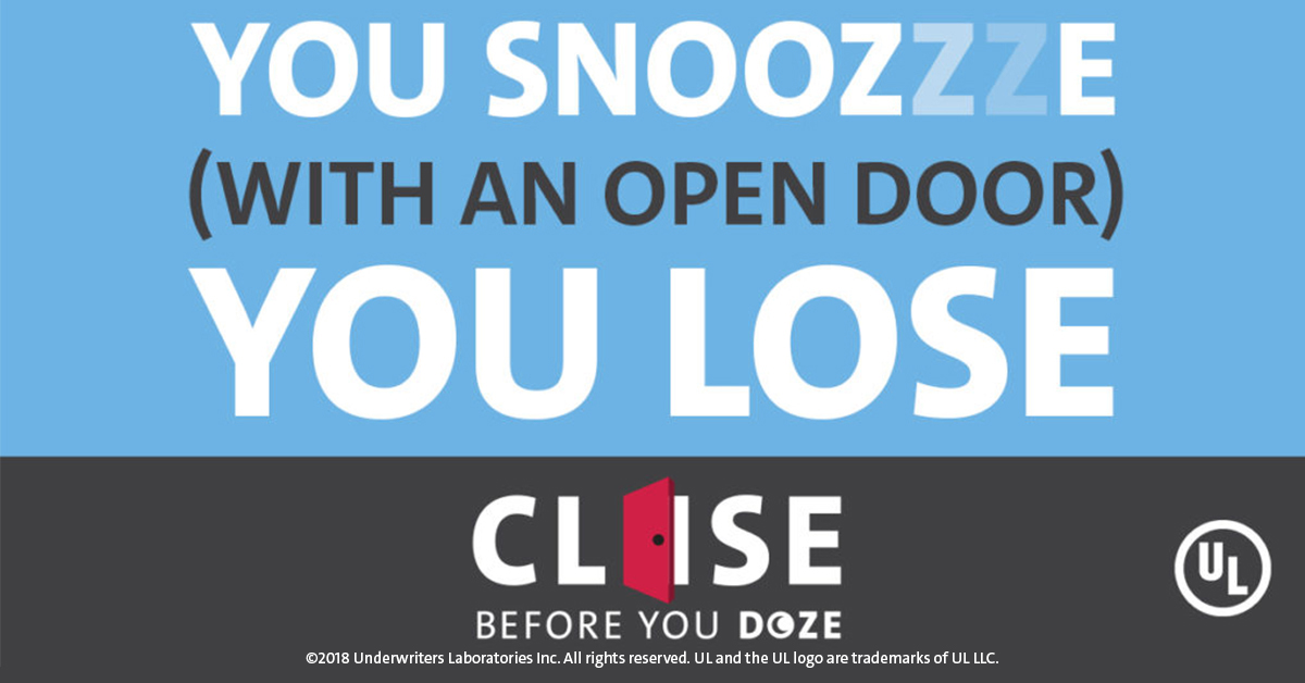 Snooze You Lose with an open door
