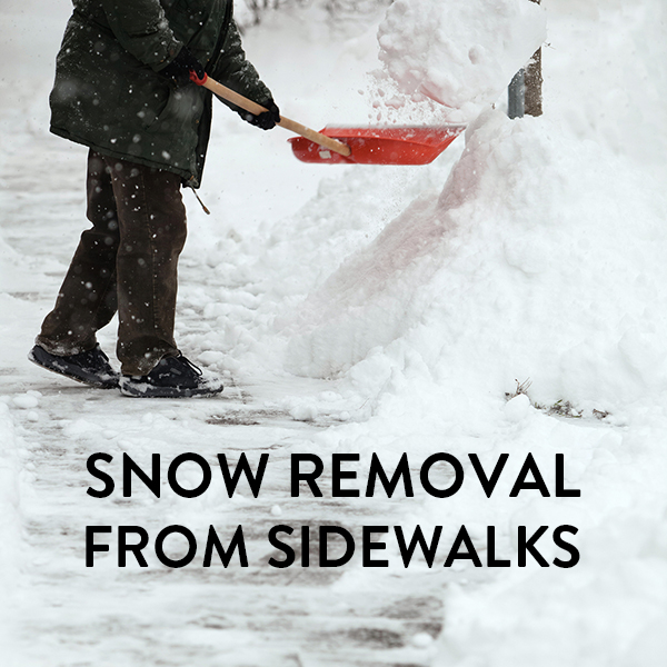 Snow Removal from Sidewalks