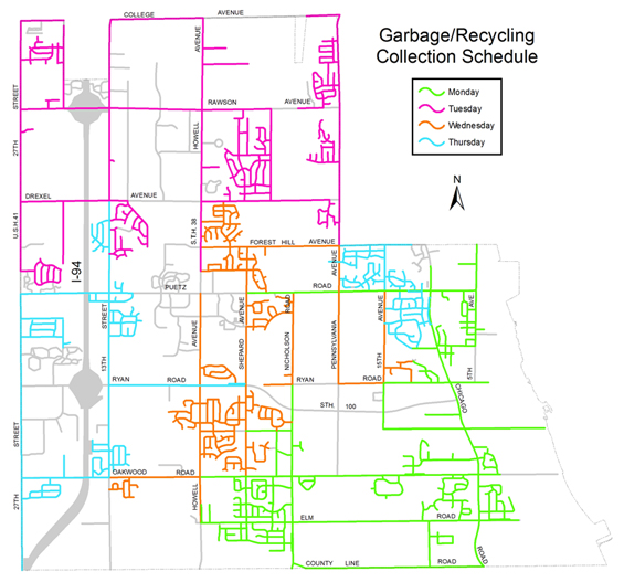 Garbage & Recycling Collection Schedules