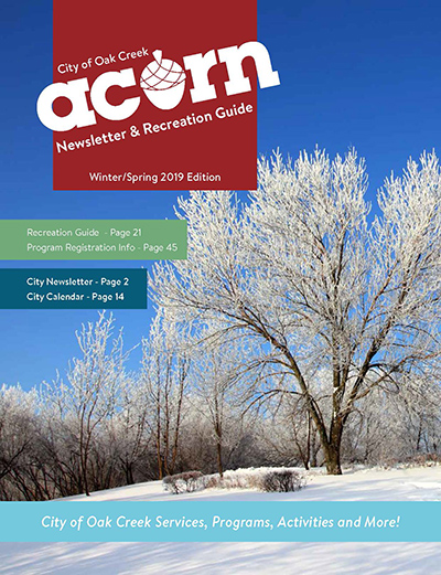 Winter Spring 2019 Acorn Cover